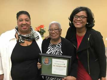Nina Erving with Savvy Senior Honoree Author Dr. Margaret Hill and Kim Anthony Morrow