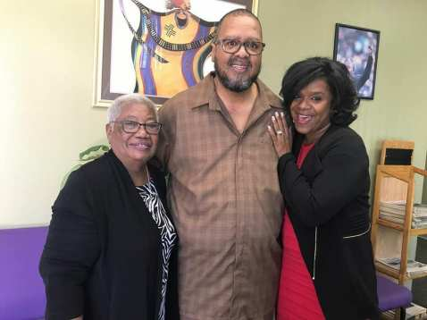 Dr. Margaret Hill, IVN Publisher Tommy Morrow and Urban Excellence founder Kim Anthony Morrow