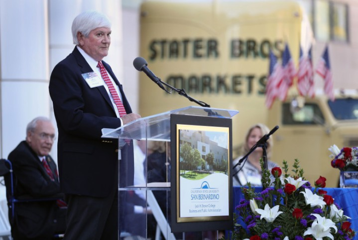 Phillip J. Smith, Chairman, Stater Bros. Markets -- Jack H. Brown College of Business and Public Administration Naming Ribbon Cutting Ceremony at California State University, San Bernardino on Thursday, October 5, 2017. (Photo by Corinne McCurdy/CSUSB)
